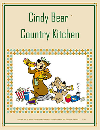 2016 Cindy Bear Country Kitchen Menu