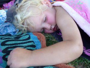 sleeping camper