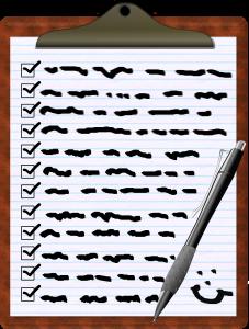 RV checklist