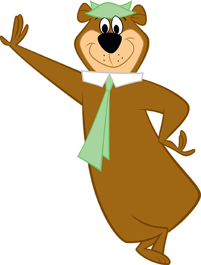 yogi bear leaning