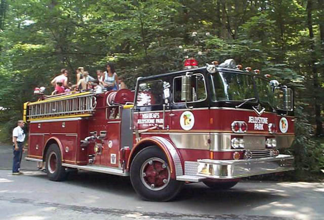 fire truck at jellystone park